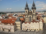 view of prague from clock tower