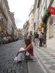 walking up to prague castle