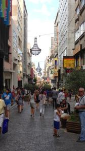 shopping district in Athens