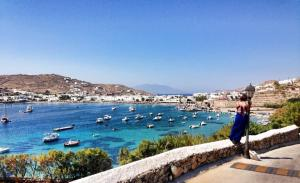 View from our resort in Mykonos