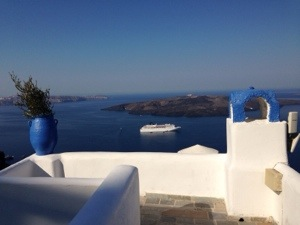 view from our hotel in Fira