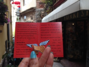 Bar Turrisi leaflet